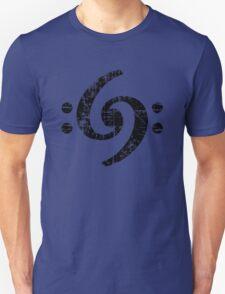 Bass Clef 69 Vintage Black Unisex T-Shirt