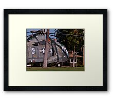 Helicopter in the Yard Framed Print