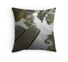 planks over water Throw Pillow