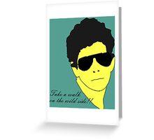 Lou Reed Greeting Card