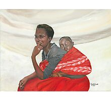 THE WAIT/Oil on canvas Photographic Print