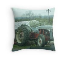 Old Bonez-1948 Ford Tractor Throw Pillow