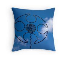 Pattern on Sky Throw Pillow