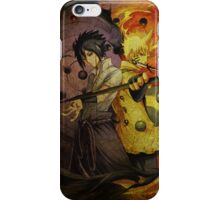 Naruto And Sasuke (Grunged) iPhone Case/Skin