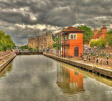 Newark Castle and Lock by Jonathan Cox