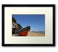 Sandown and Shanklin Inshore Lifeboat Framed Print