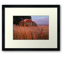 Sunset Glow, Barrabool Hills Framed Print