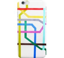 Mexico City Metro Map iPhone Case/Skin
