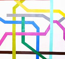 Mexico City Metro Map by MCMassey
