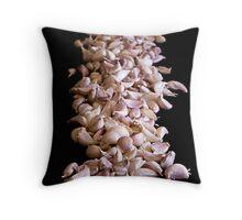 Garlic On Black Throw Pillow