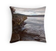 Rocks at Mickey's Beach Throw Pillow
