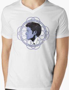 Space Cas Ornament Mens V-Neck T-Shirt