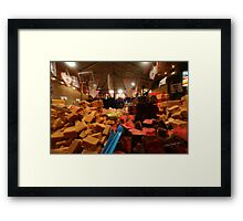 Lincoln Christmas Market Fudge Stall Framed Print
