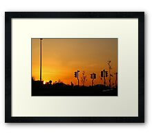 Tritton Road Sunset Framed Print