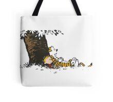 calvin and hobbes tree Tote Bag
