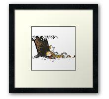 calvin and hobbes tree Framed Print