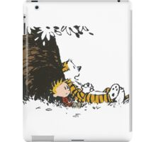 calvin and hobbes tree iPad Case/Skin