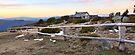 Craig's Hut Winter Evening, Mt Stirling, Australia by Michael Boniwell