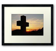 Breedon on the Hill Sunset Framed Print