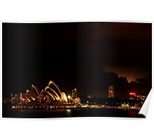 Illuminated Sydney Poster