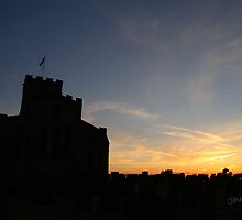 Breedon on the Hill Church Sunset by Jonathan Cox