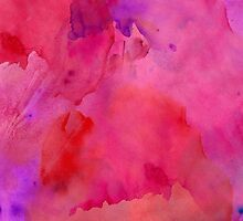 Pretty Pink, Purple, and Red Watercolor Paint  by Blkstrawberry
