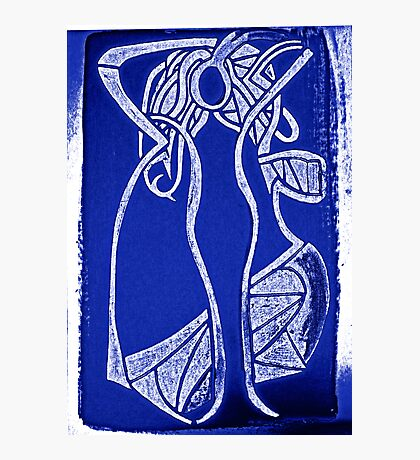 lorraine blue&white Photographic Print