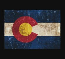 Vintage Aged and Scratched Colorado Flag Kids Clothes