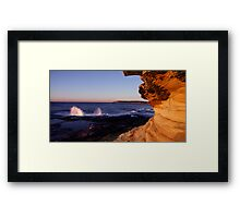 Maroubra Rock Face Framed Print