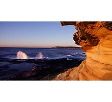 Maroubra Rock Face Photographic Print