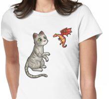 Kitten vs Dragon Womens Fitted T-Shirt