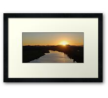 Mighty Manning Sunset Framed Print