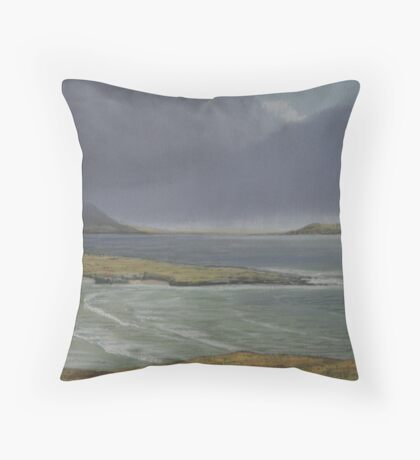 View from Knockamany bends,Co Donegal. Throw Pillow