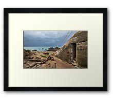 Machine Gun Bunker, Corbiere Framed Print
