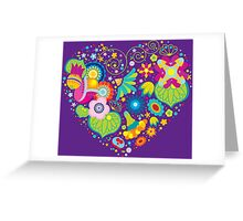 Heart flower ornament Greeting Card