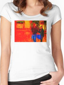 COLORS OF TUSCANY (CARD) Women's Fitted Scoop T-Shirt