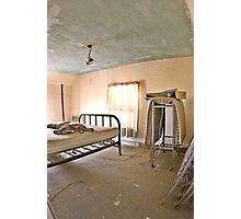Old Bed and Plaster Ceilings Photographic Print