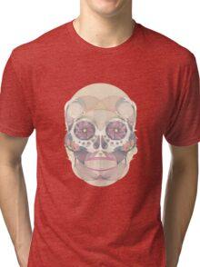 Skull - circular Tri-blend T-Shirt