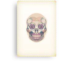 Skull - circular Canvas Print