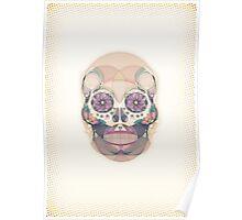 Skull - circular Poster