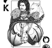 King Jon Snow vs Queen khaleesi (Game of Thrones) by Beatrizxe