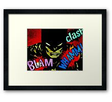 Batman looking for a fight Framed Print