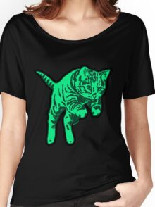 Ghost Cat in Mint Women's Relaxed Fit T-Shirt