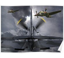 Attacking The Bombers Poster