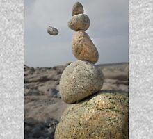 Levitating Stone. Sennen,Cornwall Unisex T-Shirt