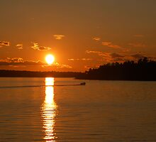 Boating at Sunset by Jane Best