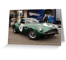 British Racing Green Greeting Card