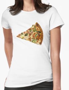 Spicy Pizza Slice Womens Fitted T-Shirt