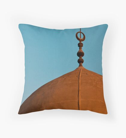 Moon and Mosque Throw Pillow