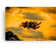reds at biggin hill 2014 Canvas Print